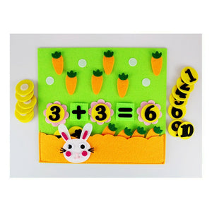 1Pcs Children Toys DIY Kindergarten Non-woven Educational Toys Education Montessori Teaching Aids Math Puzzle Toys