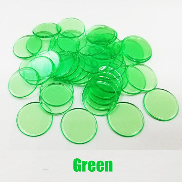 Montessori Learning Education Math Toys 100pcs Learning Resources Color Plastic coin Bingo Chip Children Kids Classroom Supplies