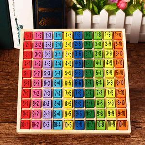 Educational Wooden Times Table Kids Mathematics Learning Toys Blocks Children Gifts Math Toys IQ Develop Colorful