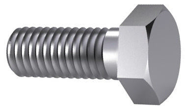 M24 Hexagon Head Hex Set Screw ISO 4017 / DIN 933 Steel 8.8 HT