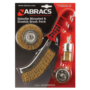 Abracs 4pc Spindle Mounted & Scratch pack Set
