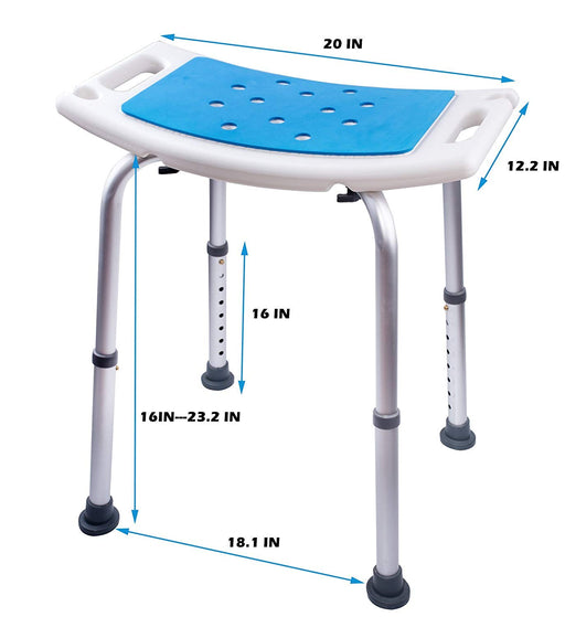 Shower Bench Bath Chair Shower Stool with Padded Seat Shower Seat for Seniors,Handicap Shower Seats for Adults Aluminum Alloy Frame