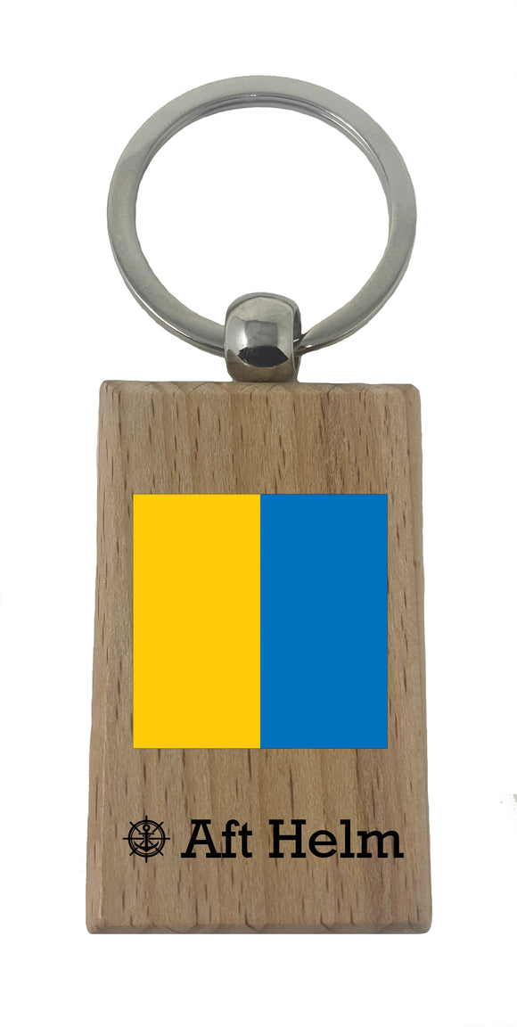 Nautical Wood Keychains