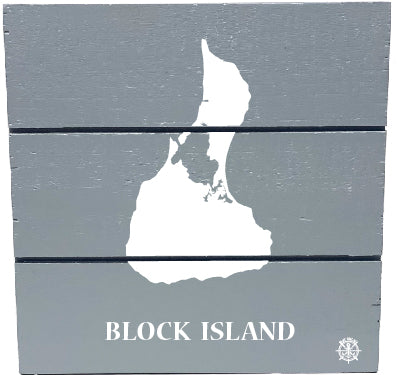 Block Island Silhouette Hanging Wall Art