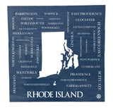 RI Cities and Towns Wood Box