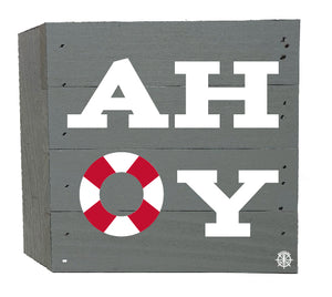 "6"" x 6"" AHOY Wood Box"
