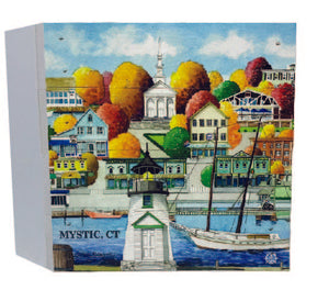 Mystic, CT Americana Wood Box