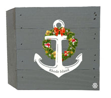 "Load image into Gallery viewer, 6"" x 6"" Anchor Wreath Wood Box"