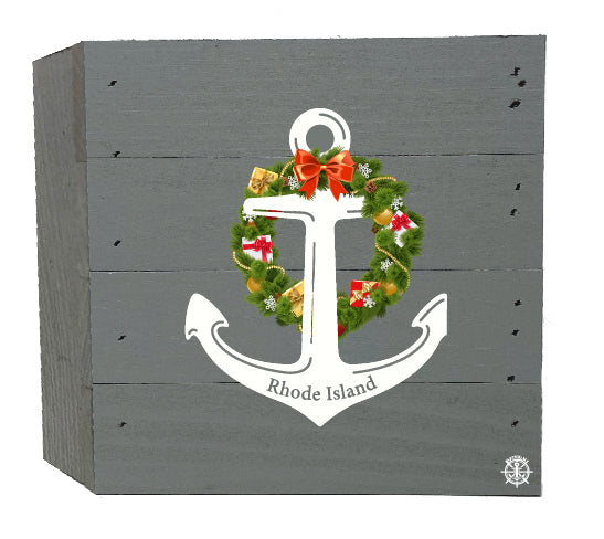 Anchor Wreath Wood Box