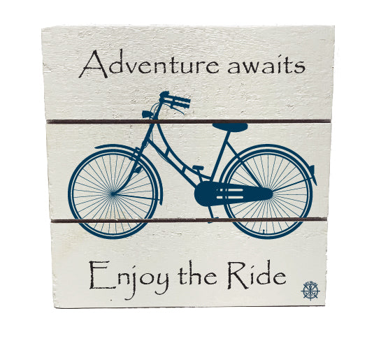 Adventure Awaits Hanging Plank Sign