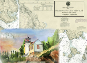 Bass Harbor Lighthouse on Canvas
