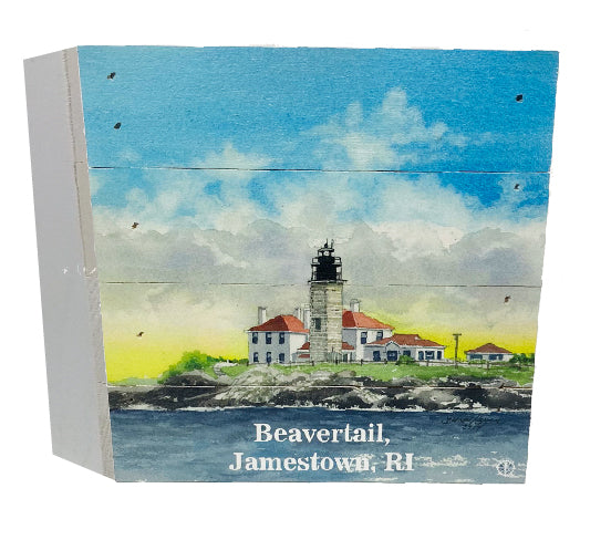 Beavertail Jamestown, RI Lighthouse Wood Box