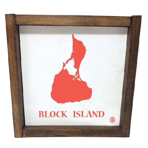 Framed Block Island Sign