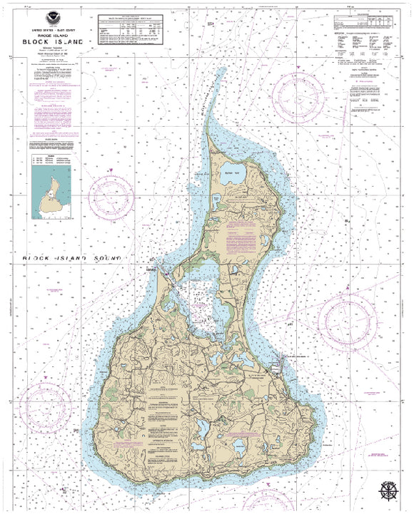 Block Island, RI Nautical Charts