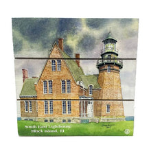 Load image into Gallery viewer, Southeast Block Island Lighthouse Wood Hanging Plank