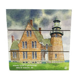 Southeast Block Island Lighthouse Wood Hanging Plank