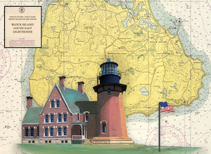 Block Island Lighthouse on Canvas