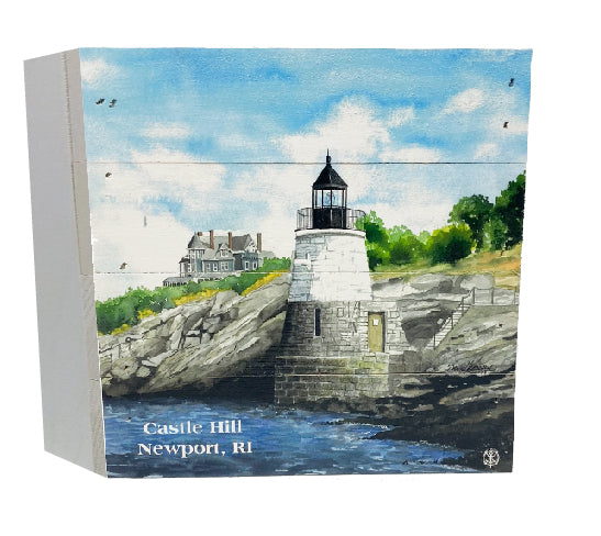 Castle Hill, Newport RI Lighthouse Wood Box