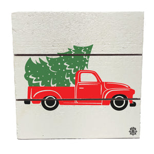 Christmas Truck Hanging Plank