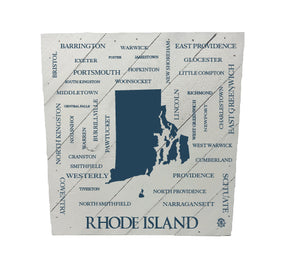 Rhode Island Cities and Towns Hanging Wood Sign