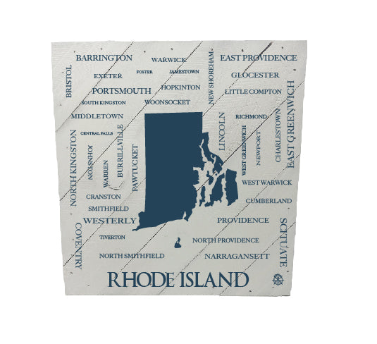 Rhode Island Cities and Towns Rustic Hanging Wood Sign