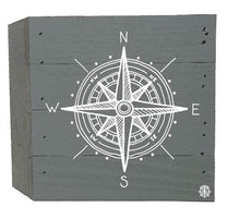 "Load image into Gallery viewer, 6"" x 6"" Compass Wood Box"
