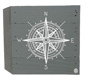 "6"" x 6"" Compass Wood Box"