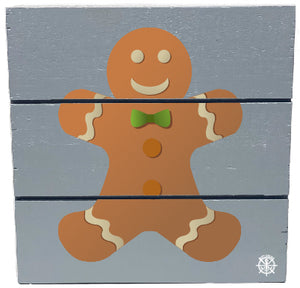 Gingerbread Man Wood Hanging Plank