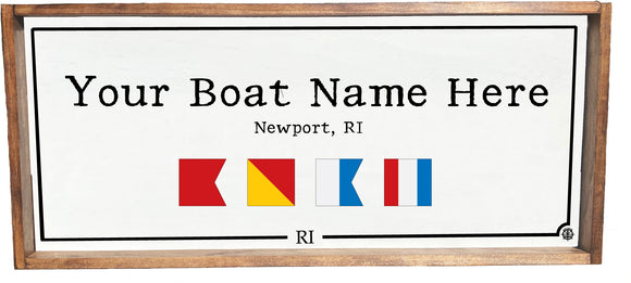 Framed Custom Boat Name Sign