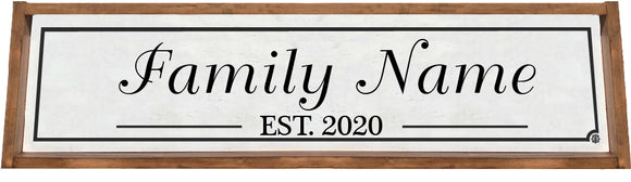Personalized Sign with Wood Frame