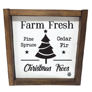 Framed Farm Fresh Sign