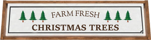Farm Fresh Christmas Tree Framed Wood Sign