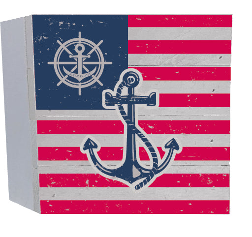 Aft Helm Flag Anchor Wood Box