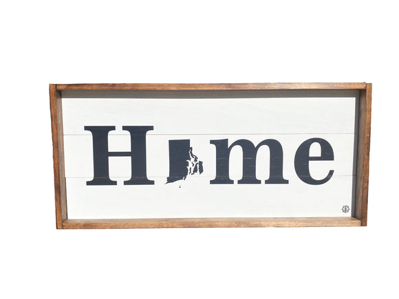Custom Home State Framed Sign