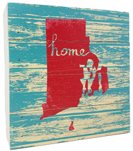 "Load image into Gallery viewer, 6"" x 6"" Rustic Rhode Island Home Wood Box"
