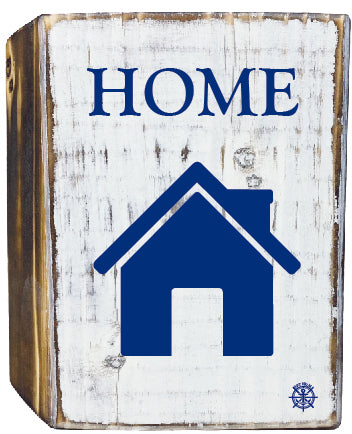 Home Rustic White Wood Block