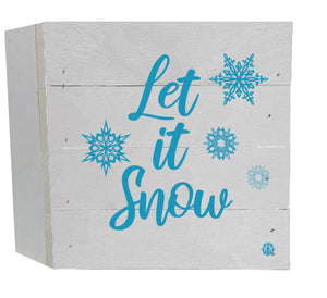 Let it Snow Wood Box