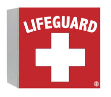 "Load image into Gallery viewer, 6"" x 6"" Lifeguard Decorative Wood Box"