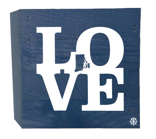 Rhode Island Love Wood Box