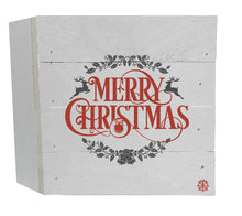 "Load image into Gallery viewer, 6"" x 6"" Merry Christmas Wood Box"