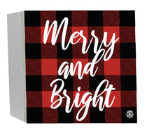"Load image into Gallery viewer, 6"" x 6"" Merry & Bright Wood Box"