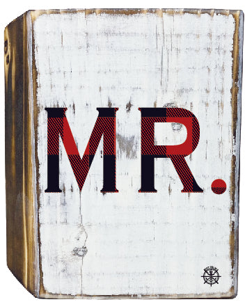 Mr. Rustic White Wood Block