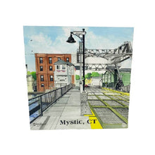 Load image into Gallery viewer, Mystic, CT Drawbridge Wood Box