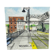 Load image into Gallery viewer, Mystic, CT Drawbridge Wood Hanging Plank