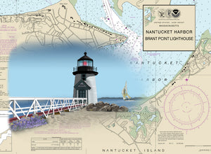 Nantucket Lighthouse on Canvas