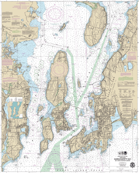 Narragansett Bay, RI Nautical Charts