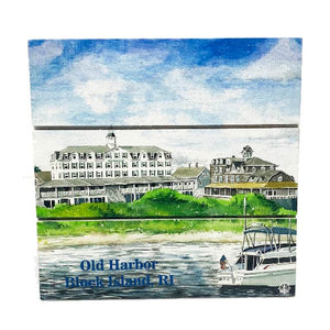 Old Harbor, Block Island Wood Hanging Plank Sign