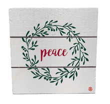 "Load image into Gallery viewer, 6"" x 6"" Peace Wood Hanging Plank"