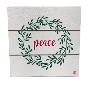 "6"" x 6"" Peace Wood Hanging Plank"