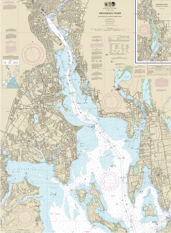Providence River, RI Nautical Charts